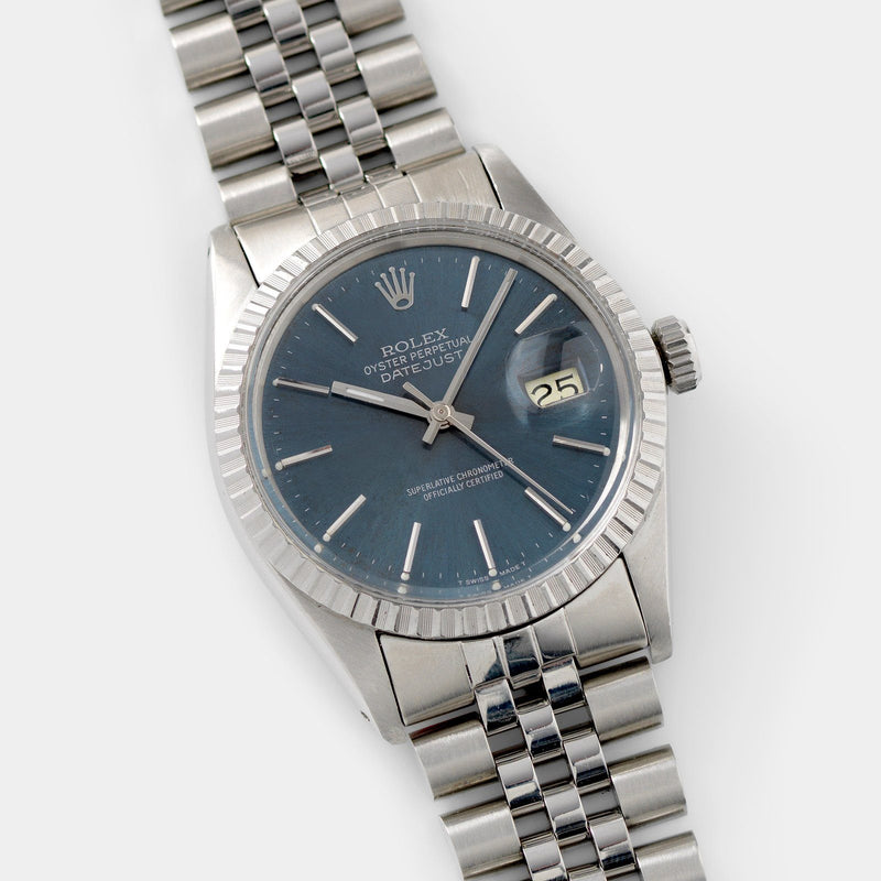 36mm steel case Rolex Datejust Blue Soleil Dial 16030