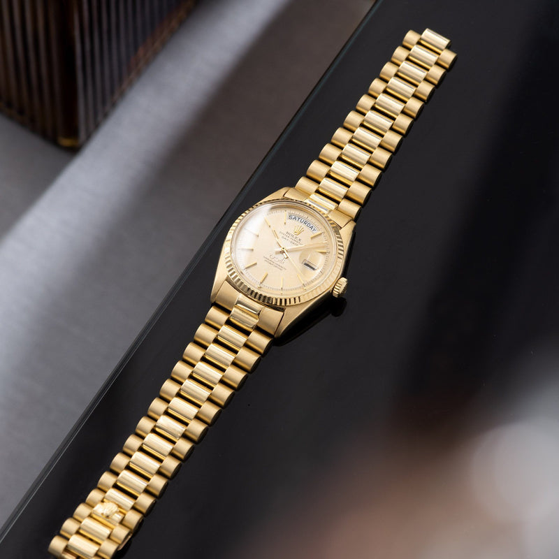 Rolex Day Date Qaboos Dial 1803 with yellow gold President bracelet with non-concealed clasp