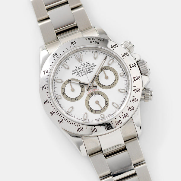 Rolex Daytona Steel 116520 White Dial with Guarantee