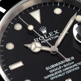 Rolex Submariner Date Reference 16610 with Papers and with gentle patina