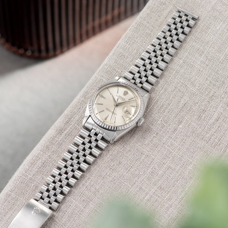 Rolex Datejust Silver Swiss Only Dial 1603 with Jubilee bracelet