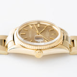 Rolex Datejust 14kt Yellow Gold 1601 Tobacco Dial  with strong lugs