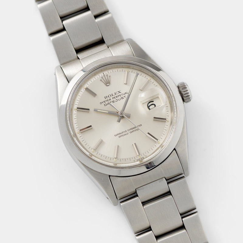 Rolex  Datejust Reference 1600 Silver Dial with smooth bezel