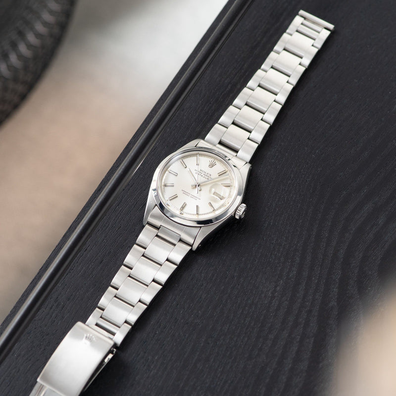 Rolex  Datejust Reference 1600 Silver Dial with solid link Oyster bracelet