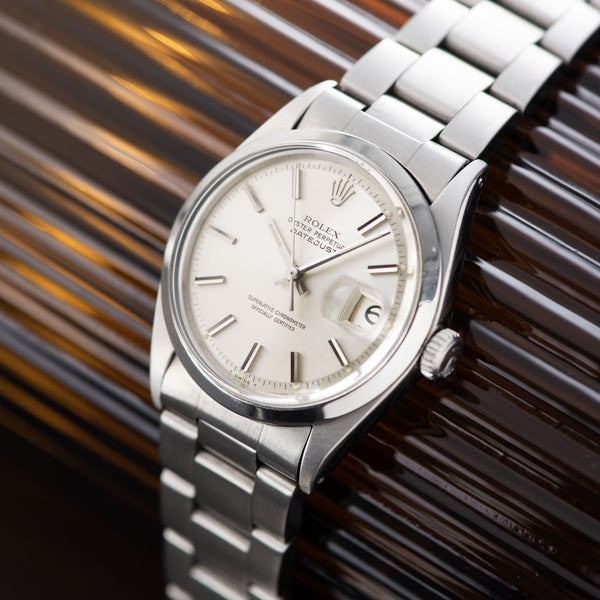 Rolex  Datejust Reference 1600 Silver Dial with silver soleil pie pan dial