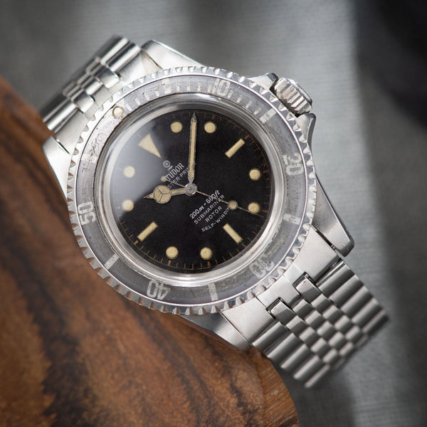 Tudor Submariner Ref 7928 Gilt Minute Track Faded Bezel