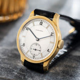 Longines Yellow Gold Sector Dial Ref 4135 1940s