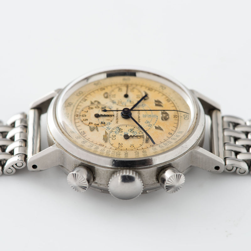 Movado M95 Steel FB Case Chronograph Watch with 'tasti tondi' sunray pushers