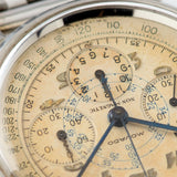 Movado M95 Steel FB Case Chronograph Watch 1940s