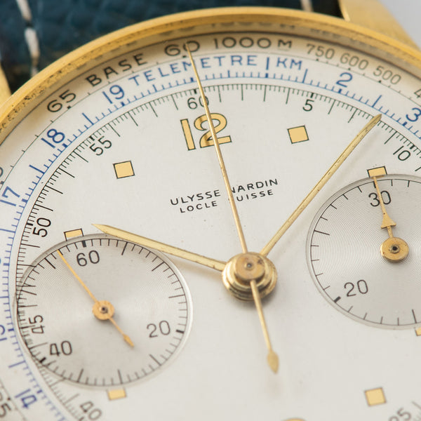 Ulysse Nardin Yellow Gold Mono Pusher Chronograph in 18 yellow gold