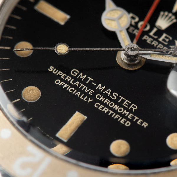 Rolex 1675 Gilt Dial GMT Master Faded Insert