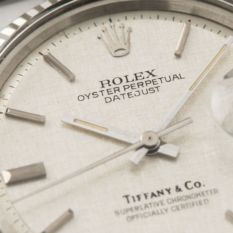 Rolex Datejust Tiffany Linen Dial Reference 1601