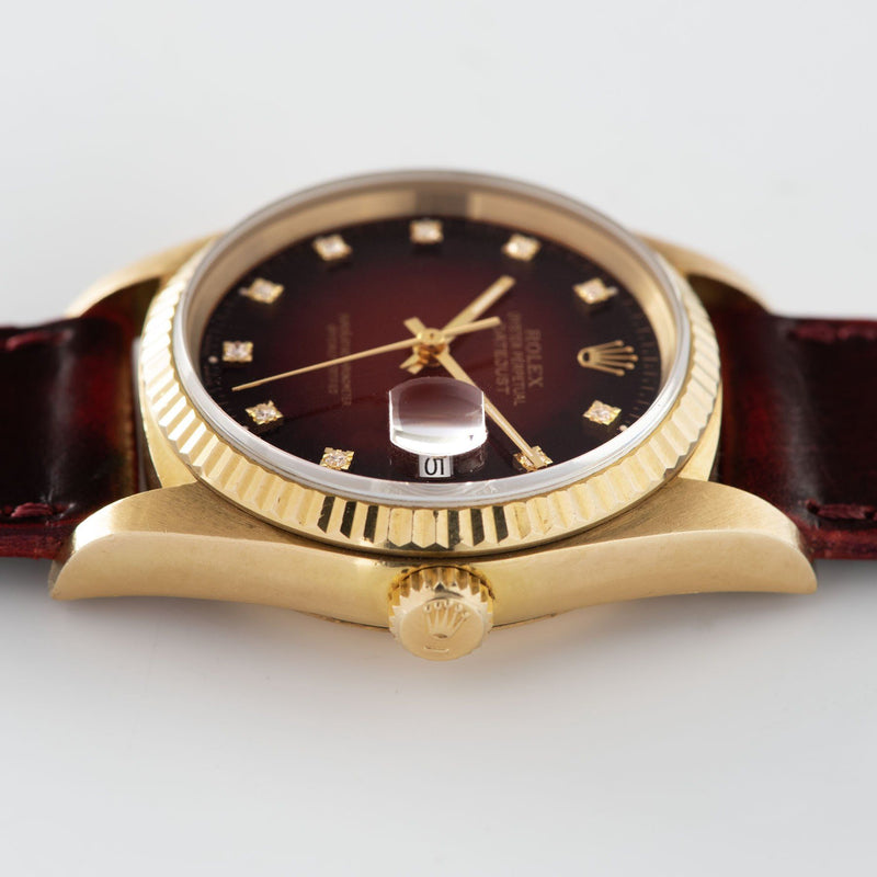 Rolex Datejust 16018 Red Dégradé Dial