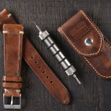 Siena Brown Spring Bar Travel Tool Set