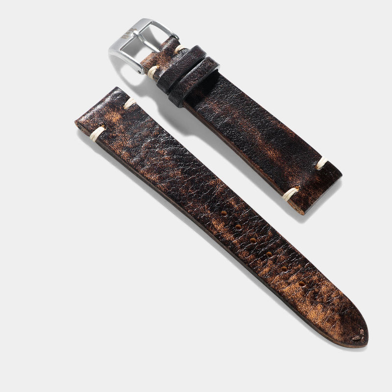 Woodie Brown Leather Watch Strap