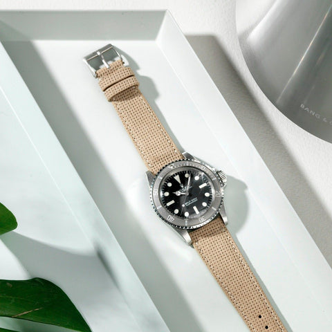 Rolex Punched Camel Suede Watch Strap