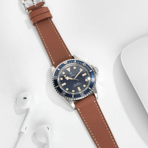 Tudor Saddle Brown Leather Watch Strap