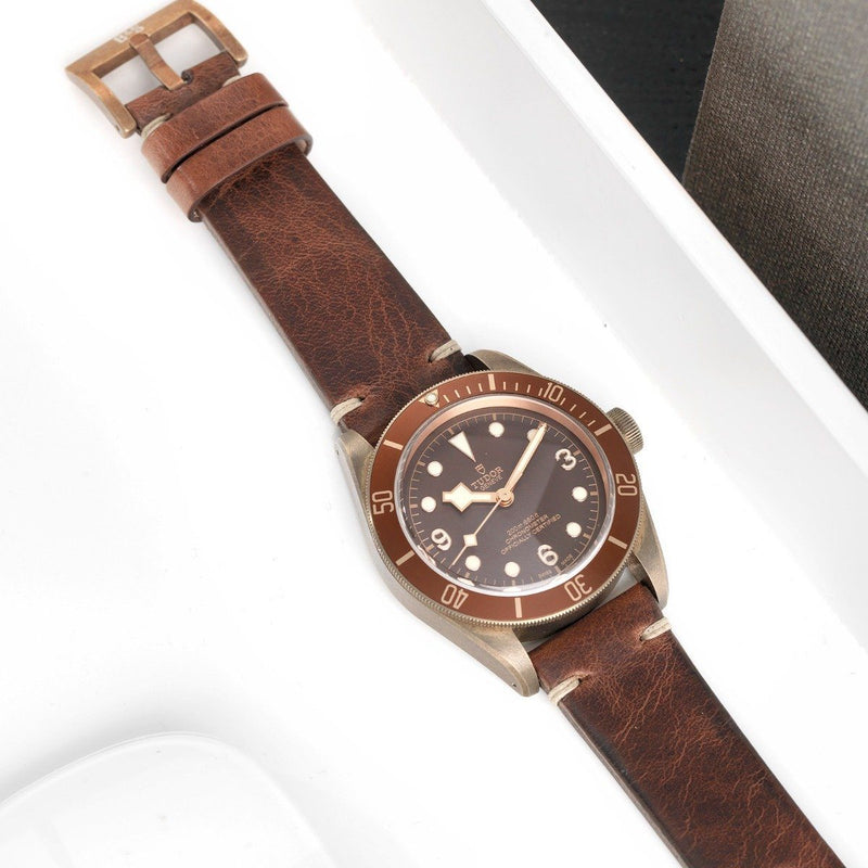 Tudor Bronze Perfect Match Siena Leather Watch Strap