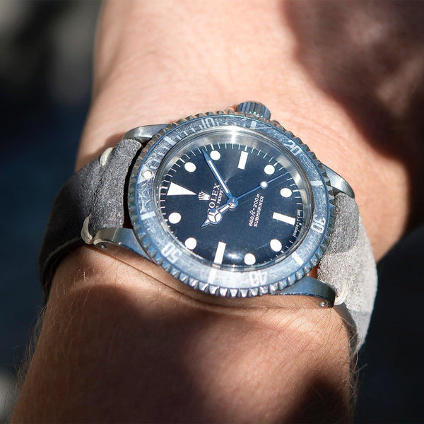 Rolex Dark Camo Grey Silky Suede Watch Strap