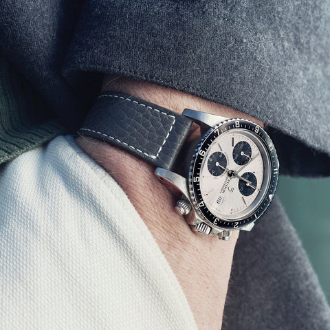 Tudor Elephant Grey Leather Watch Strap
