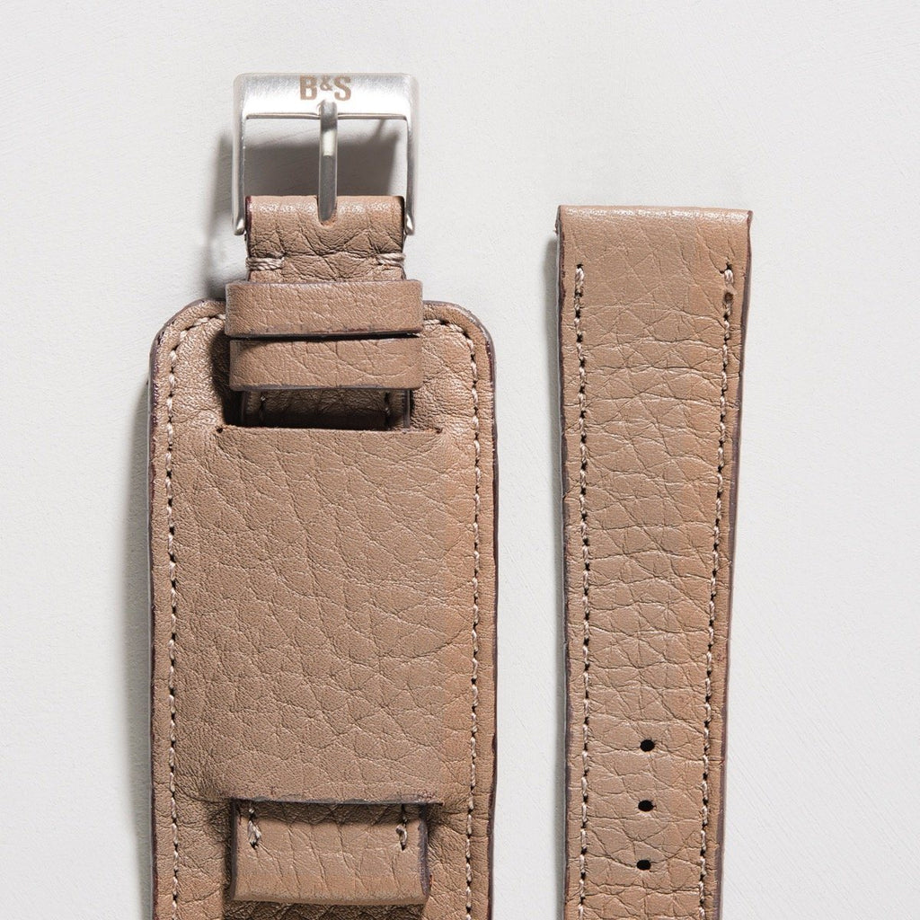 Newman Taupe Grey Leather Watch Strap