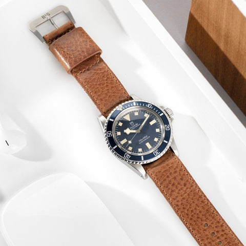 Tudor One Piece Nato Faccio Brown Leather Watch Strap