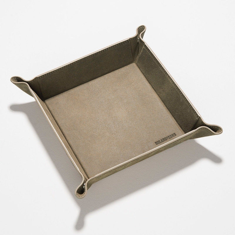 Grey Rugged Big Leather Valet Tray