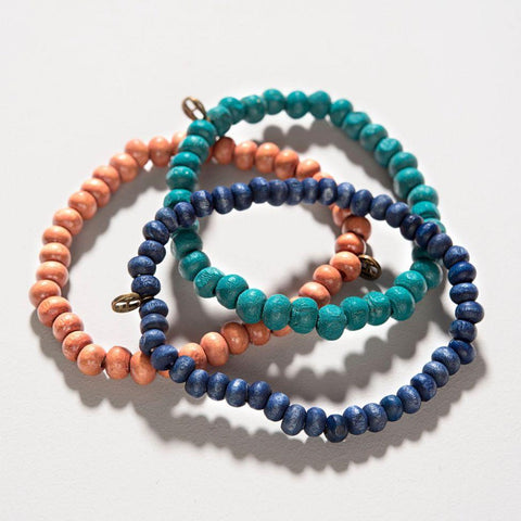 Happy Beads bracelets Blue Patto