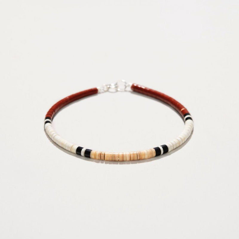 Pueblo Shell And Pipestone Bracelet