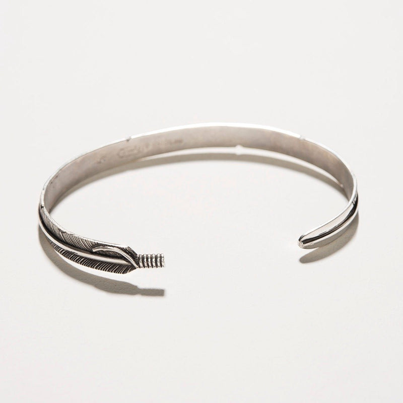 Navajo Slim Feather Silver Cuff