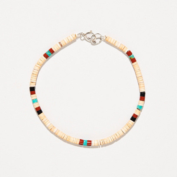 Pueblo Shell And Turquoise Bracelet