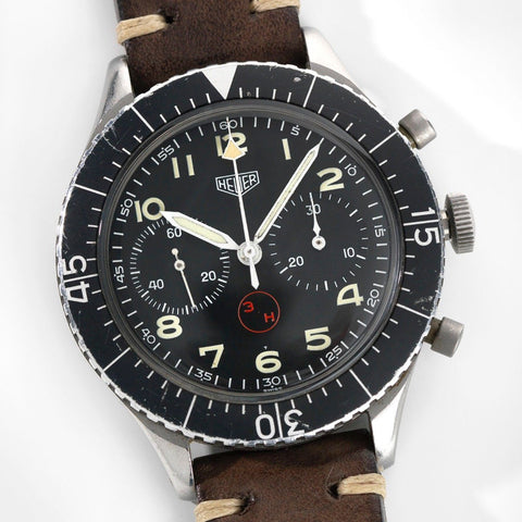 Heuer Chronograph 3H German Airforce Issued Reference 1550SG