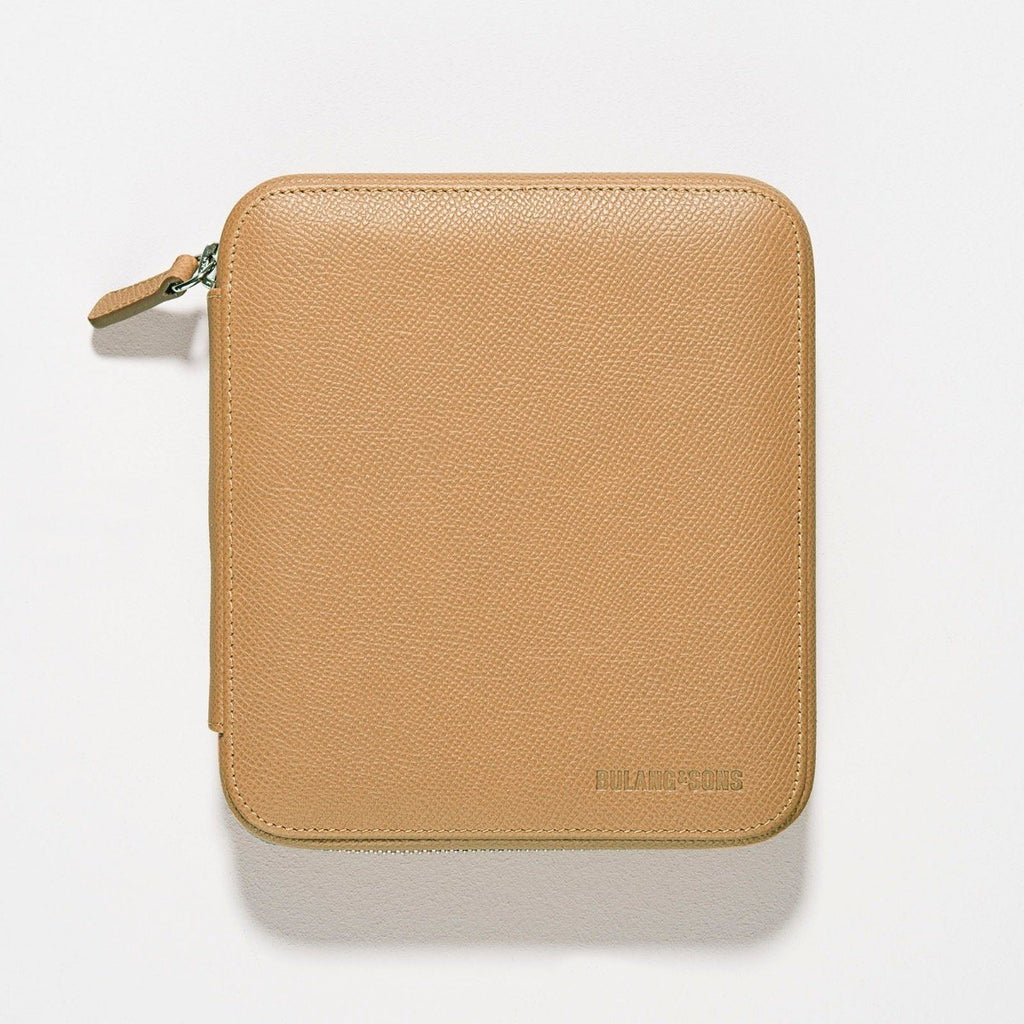 Honey Brown 4 Watch Leather Zip Folder