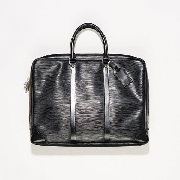 Louis Vuitton Porte Documents Voyage Black Epi