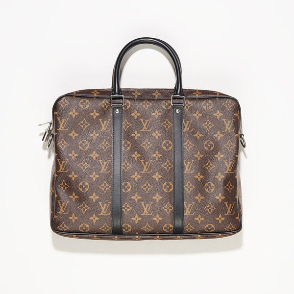 28d009eac1a4 Louis Vuitton Porte-Documents Voyage PM Monogram Macassar Canvas Bag ...