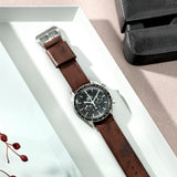 Omega One Piece Nato Brown Lumberjack Leather Watch Strap
