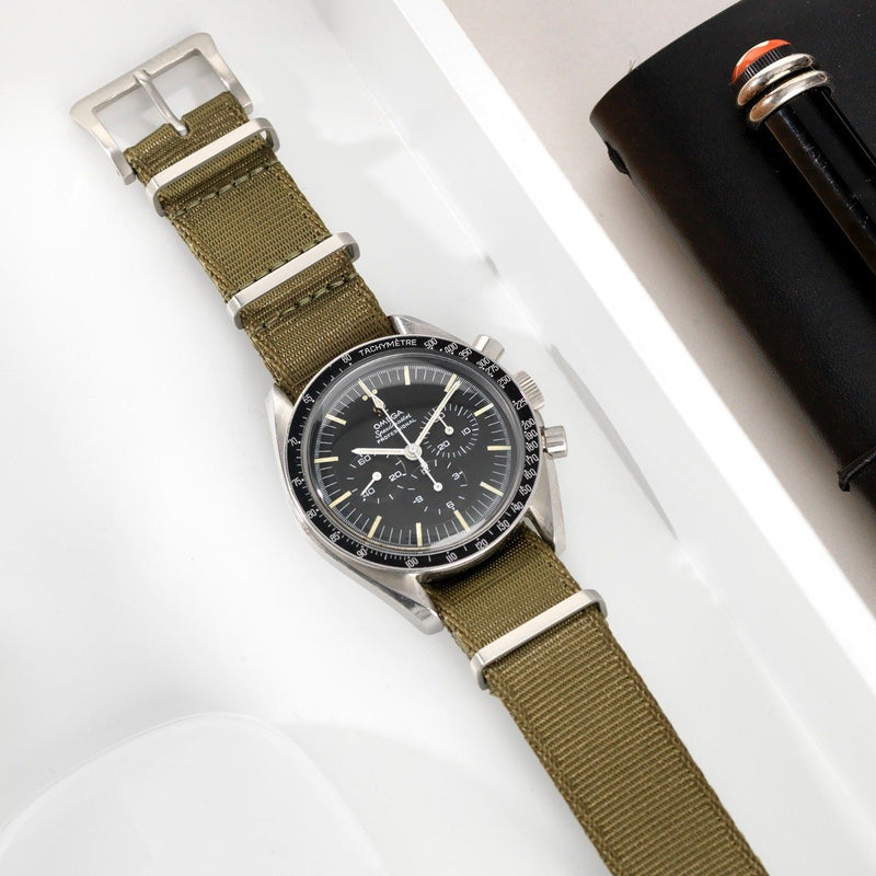 Omega Deluxe Nylon Nato Watch Strap Olive Drab Green