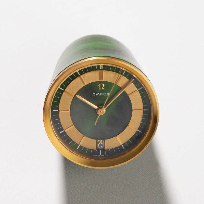 1960s Omega Rocket Line Electromechanical Table Clock