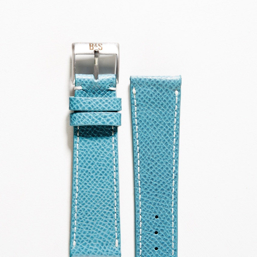 Pool Blue Leather Watch Strap