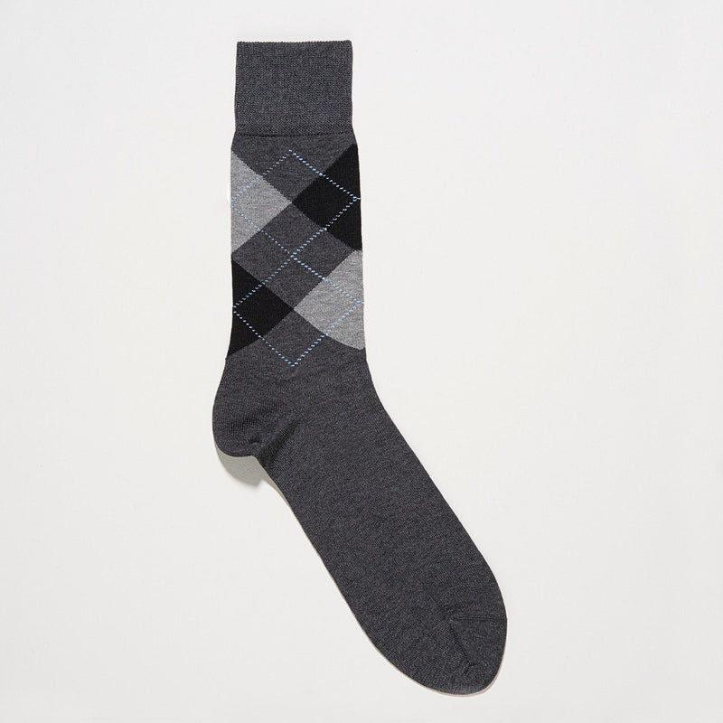 Burlington Manchester Black Argyle Socks