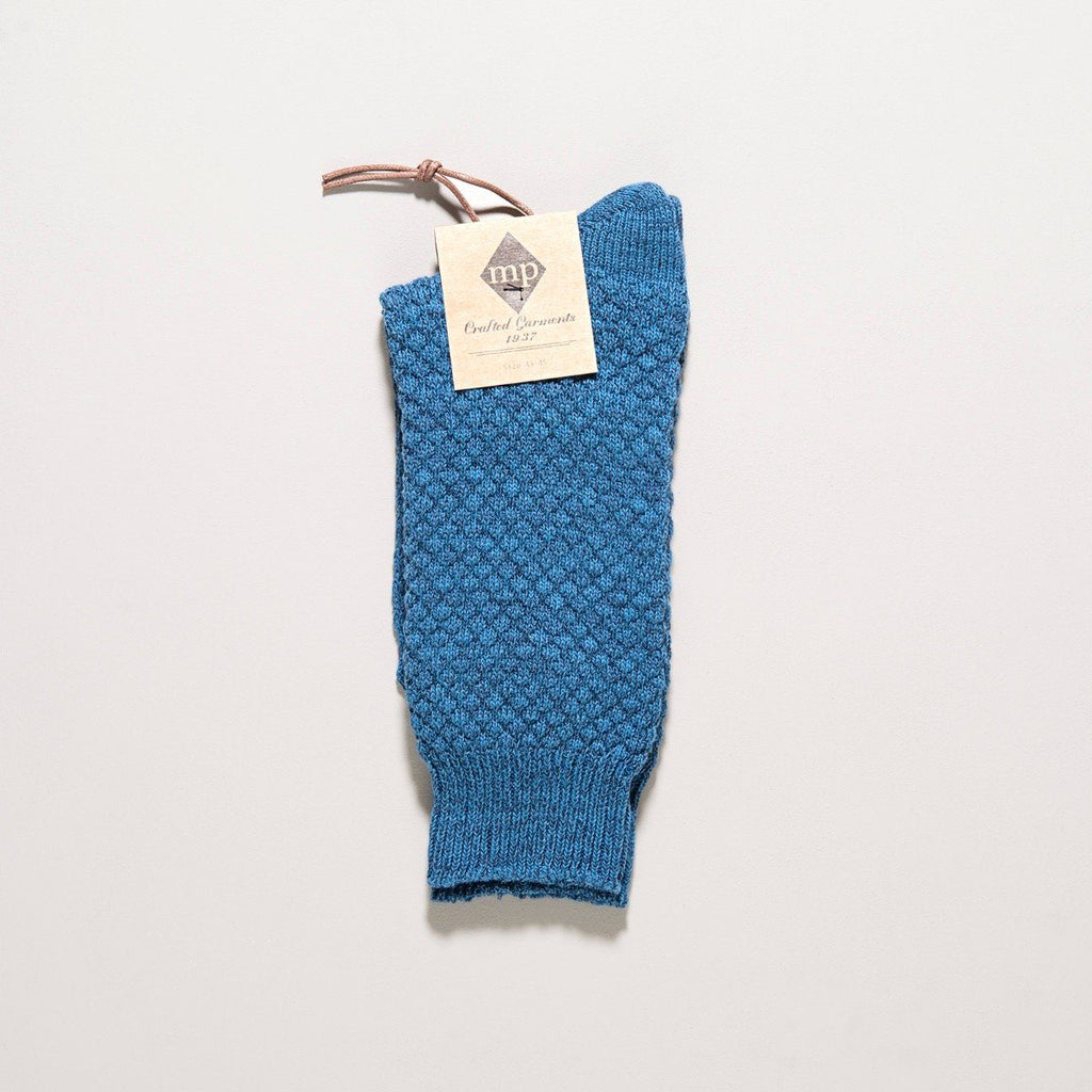 MP Crafted Garments Blue Oscar Socks