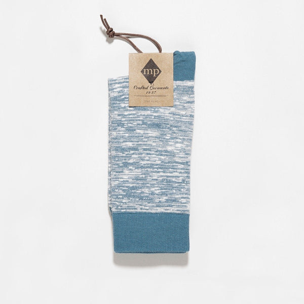 MP Crafted Garments Blue Nick Socks