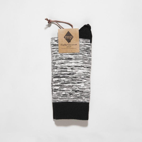 MP Crafted Garments Black Nick Socks