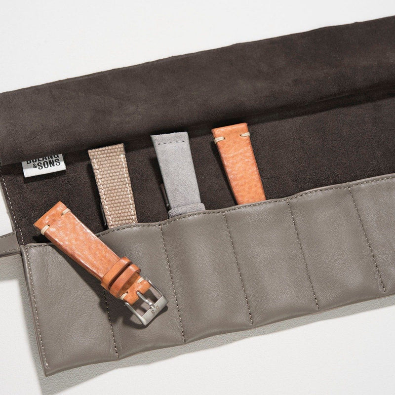 Taupe Leather Strap Roll