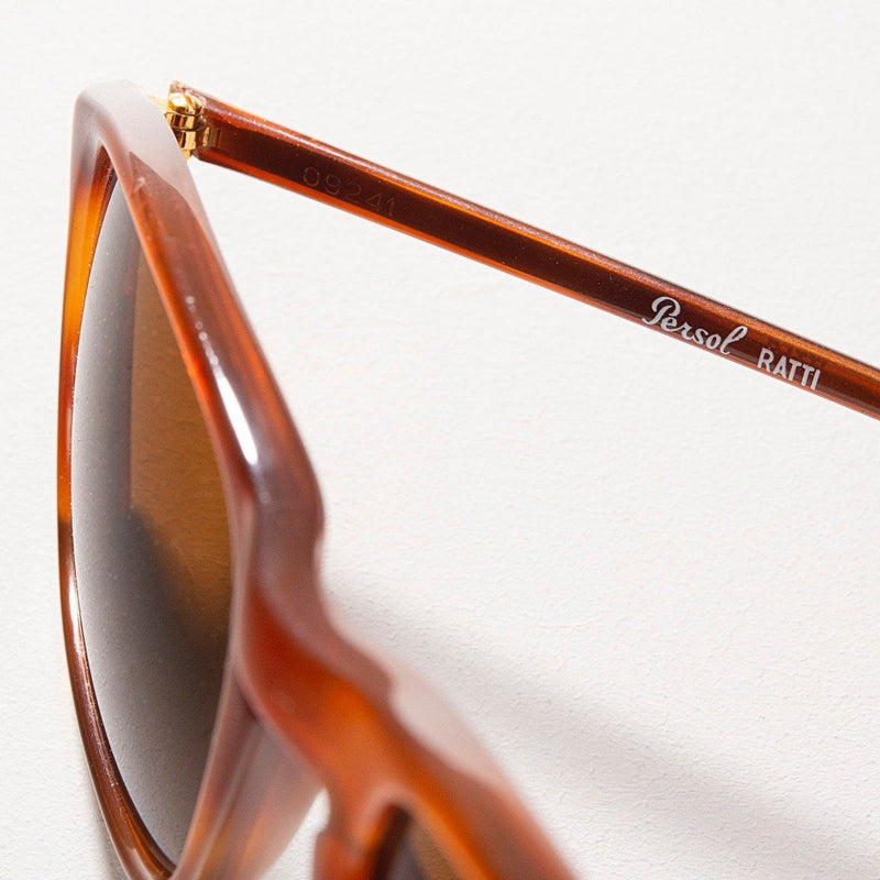 Vintage Persol 09241 Ratti Brown Rectangular Sunglasses