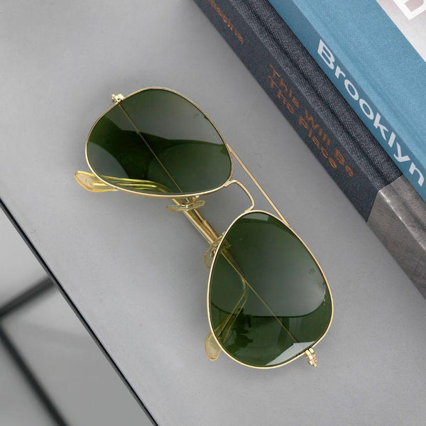 Vintage Green Aviator Sunglasses