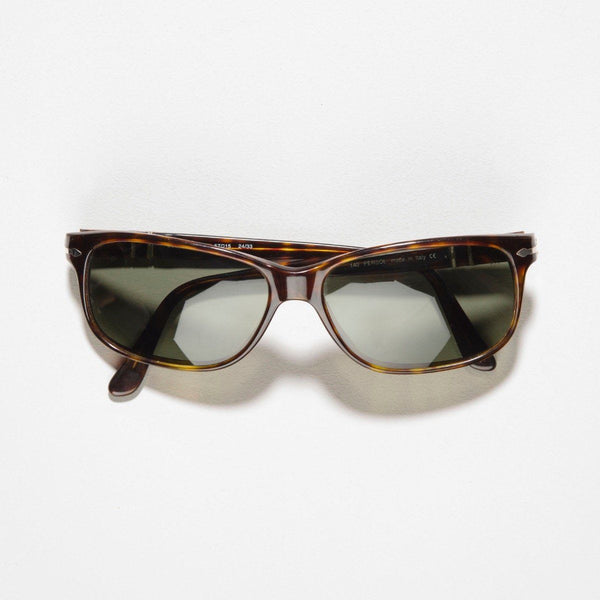 Vintage Persol 2577-S Havana Brown Rectangular Sunglasses