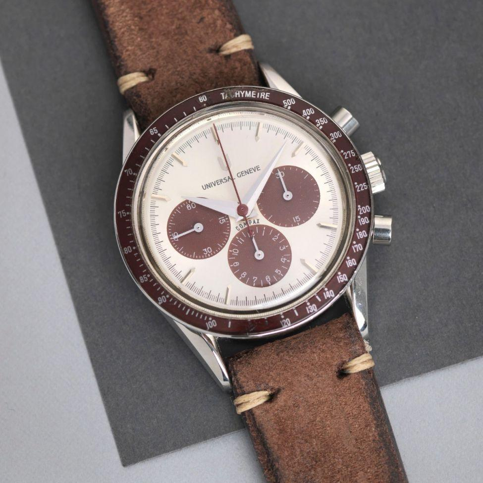 UNIVERSAL GENEVE COMPAX CHRONOGRAPH 884 . 485 BURGUNDY
