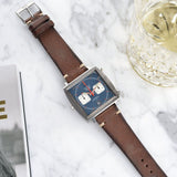 Heuer Lumberjack Brown Leather Watch Strap