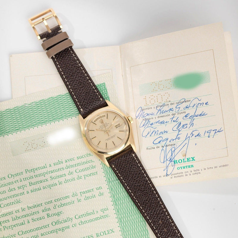 Rolex 1802 Day Date Double Punched Papers